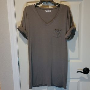 MICHAEL STARS V-Neck T-Shirt Dress